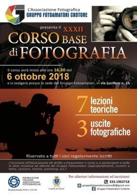 XXXII Corso Base di Fotografia 2018