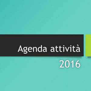 Agenda attività 2016