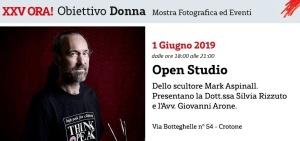 Open Studio by Mark Aspinall. Incontro con Mario CRESCI. Crotone, 01.06.2019
