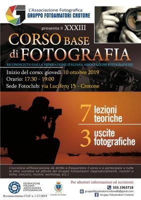 XXXIII Corso Base di Fotografia 2019