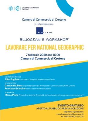 "7.02.2020 - Workshop ""Lavorare per National Geographic"""