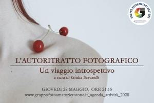 """""""L'Autoritratto Fotografico"""" a cura di Giulia Savarelli  - 28.05.2020 h 21:15"""