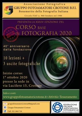 XXXIV Corso Base di Fotografia 2020